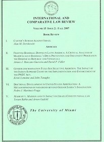 Yoram Rabin & Arnon Gutfeld, Marbury v. Madison and its Impact on the Israeli Constitutional Law, 15 University of Miami International and Comparative Law Review 303 (2007).